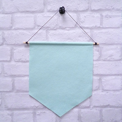 Pale Mint :: Handmade banner for you to decorate