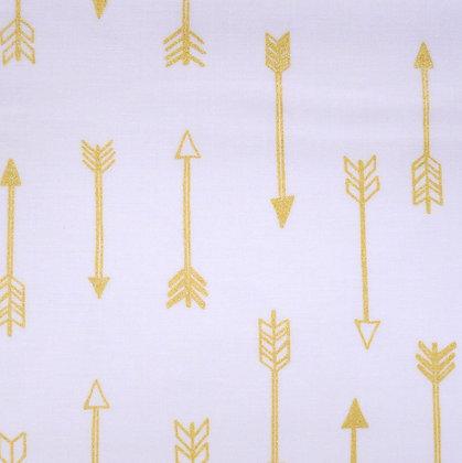 Fabric :: Metallic :: Arrows White