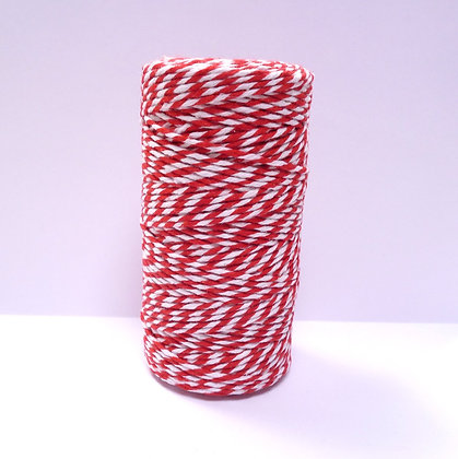 Baker's Twine Spool :: 100m :: Red & White