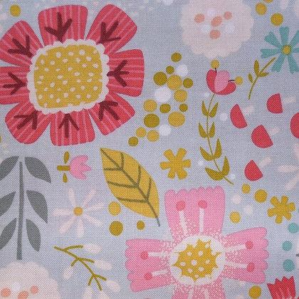 Fabric :: Goldilocks :: Teal Flowers