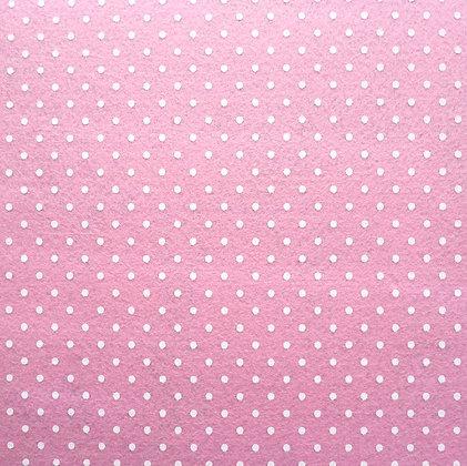 Polka Dot Felt Square :: PALE PINK