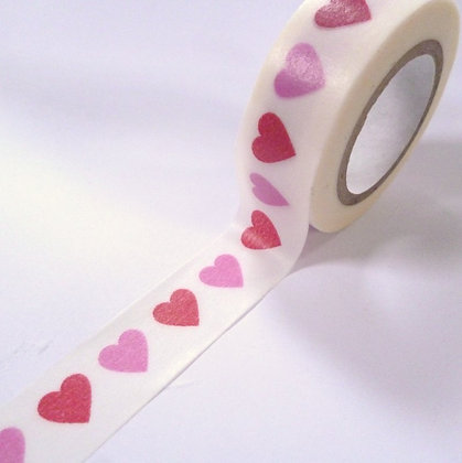 Washi Tape roll :: Pink & Red Hearts