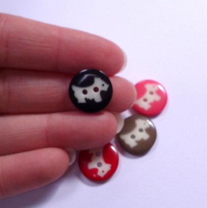 Scottie Dog Button