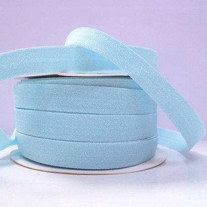 Glitter Fold Over Elastic :: Pale Blue