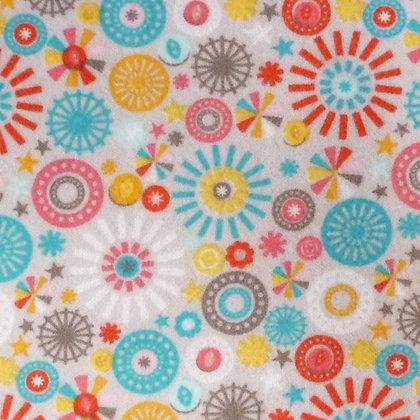 Fabric :: Girl Crazy :: Flannel Grey Pinwheel