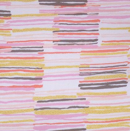 Fabric :: Metallic :: Offline Blush