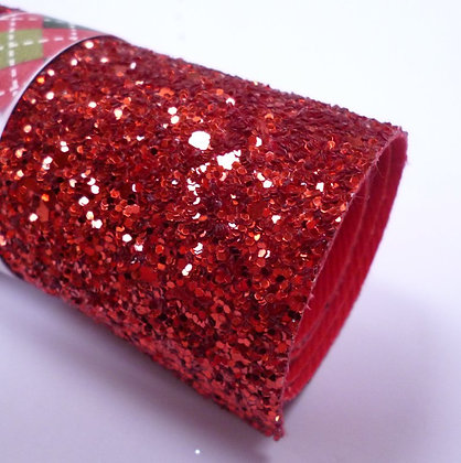 Glitter Remnant Roll :: Chunky :: RED (A) 8cm x 100cm