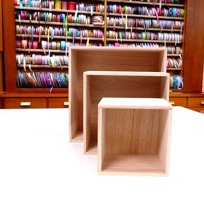 Wooden Storage :: Square boxes x3