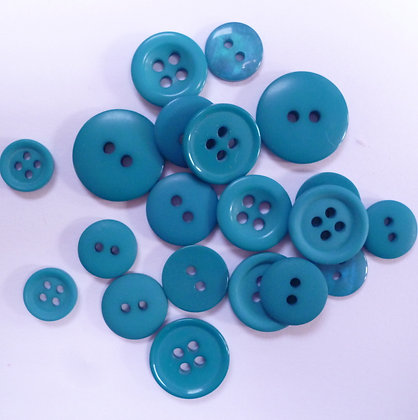 Dyed Pick & Mix Buttons :: Teal