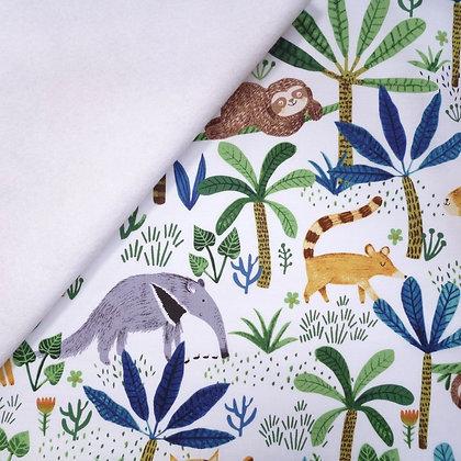 Fabric Felt :: Jungle Fever :: Jungle Friends on White