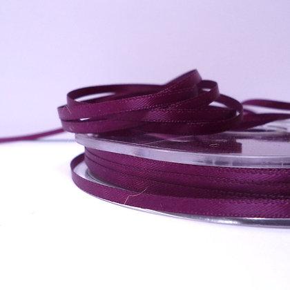 Aubergine :: 3mm Mini Satin Ribbon :: 5m