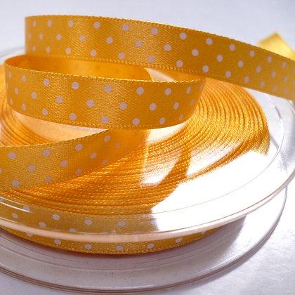 Micro Dot Satin Ribbon :: Golden Yellow