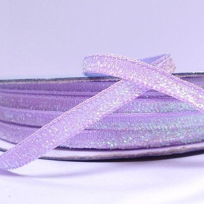 5mm Glitter Velvet Ribbon :: Lilac