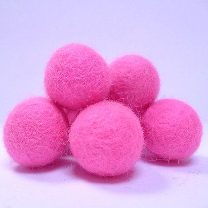 Loose Felt Balls 100% Wool :: Neon Pink