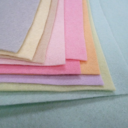 PASTEL II  Premium Wool Felt Colour Pack