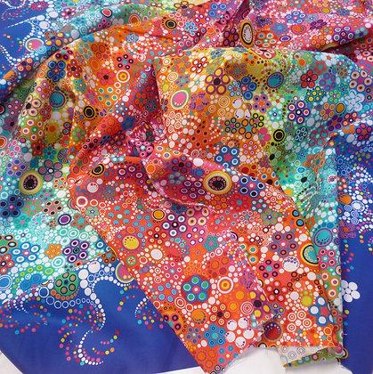 Fabric :: Effervescence :: Rainbow (Blue Edges)