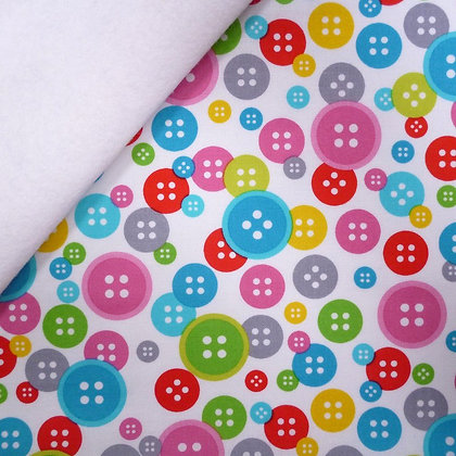 Fabric Felt :: Sew Much Fun :: White Buttons on White