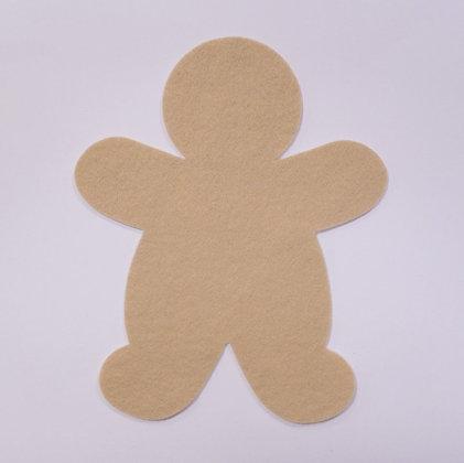Die Cut :: Gingerbread Man :: Beige
