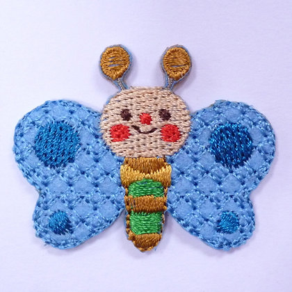 Embroidered Motif :: Bowtie Butterfly Blue