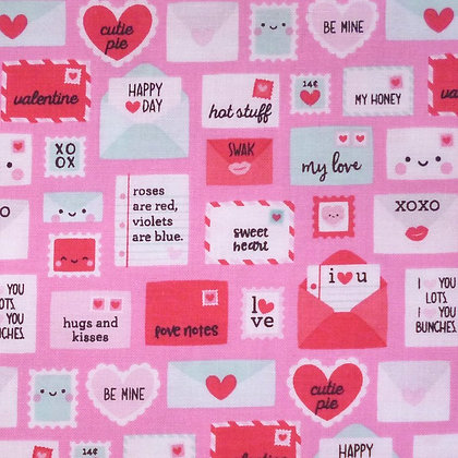 Fabric :: Punny Valentine :: Love Letters