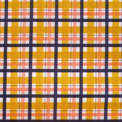 Fabric :: Golden Days :: Mustard & Navy Tartan