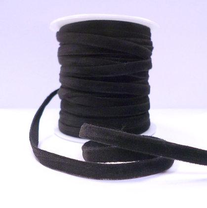 5mm velvet ribbon spool :: Black