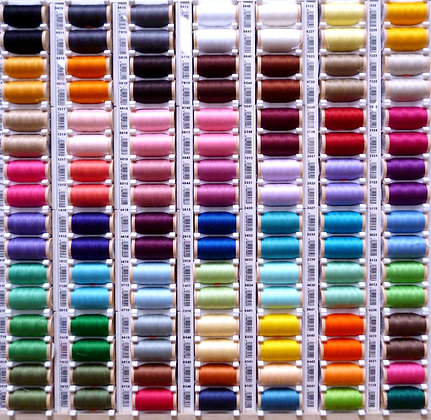 Sewing Thread Rainbow:: Complete set of 60 colours