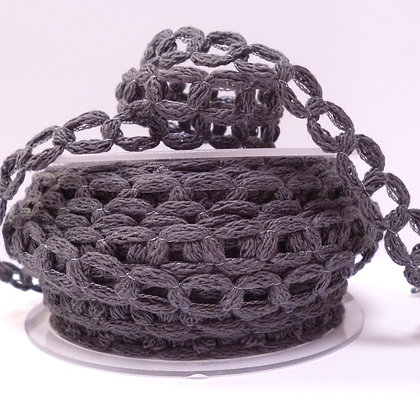 French Knit Chain :: Charcoal