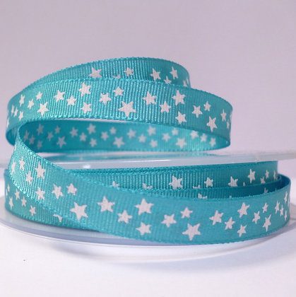 Double Sided Star Ribbon :: Turquoise
