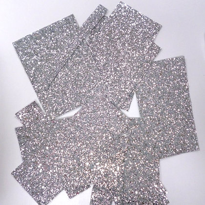 Glitter Remnants :: 100g :: Silver