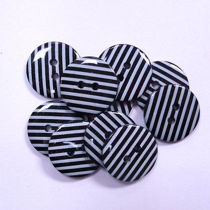 Medium Stripe Button :: Black