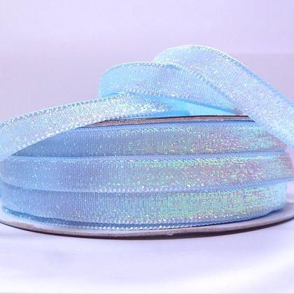10mm Glitter Velvet Ribbon :: Pastel Blue