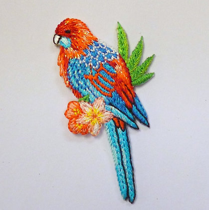 Embroidered Motif :: Tropical Parrot