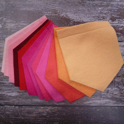 Pick Your Own Felt Flag - Curved or Pointed - Pinks