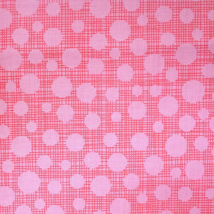 Fabric :: Hash Tag Dot :: Pink