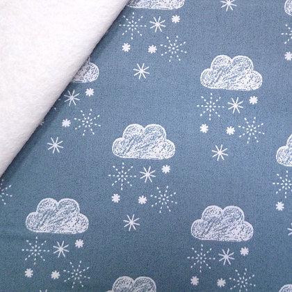 Fabric Felt :: Laska :: Snow Clouds on Natural