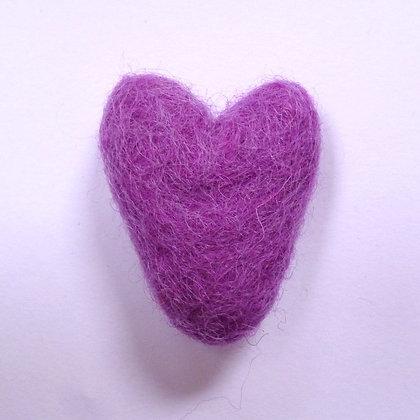 Felt Hearts 100% Wool :: Thistle