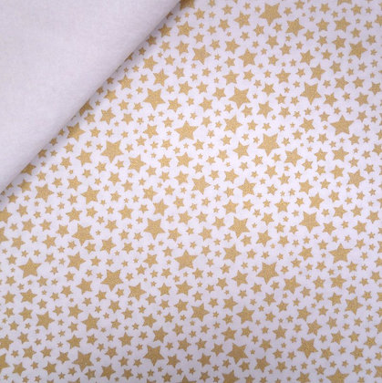 Fabric Felt :: Starbrite :: White Mini Stars on White
