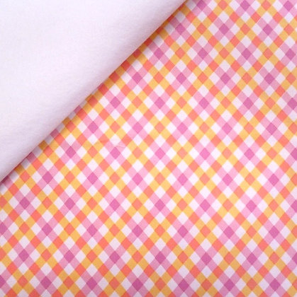 Fabric Felt :: Perfect Party Yellow Gingham on White