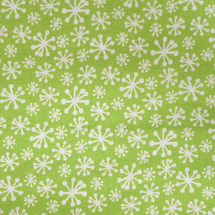 Fabric :: Cool Yule :: Snowflakes Green