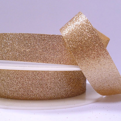 Fine Glitter Ribbon :: Pale Gold