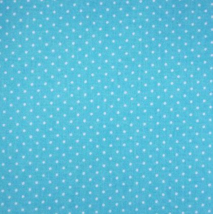 Fabric :: Wide :: Pin Dot Bright Blue