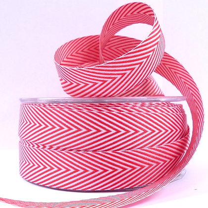 Wide Twill Ribbon :: Red