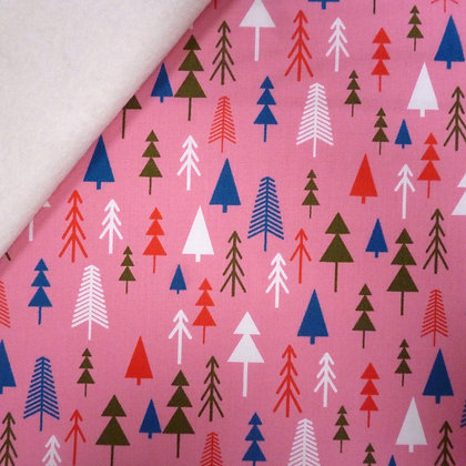 Fabric Felt :: Merry and Bright :: Christmas Trees on Natural LAST FEW