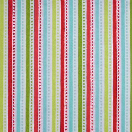Fabric :: Santa Express :: MultiColour Stripe