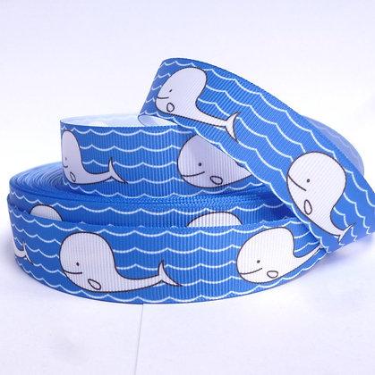 Cute Grosgrain Ribbon :: Whales