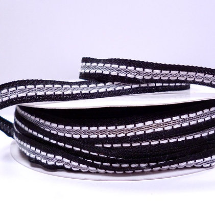 Double Stitch Ribbon :: Black