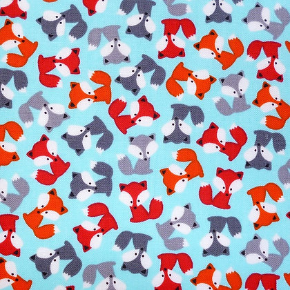 Fabric :: Zoologie :: Mini Foxes