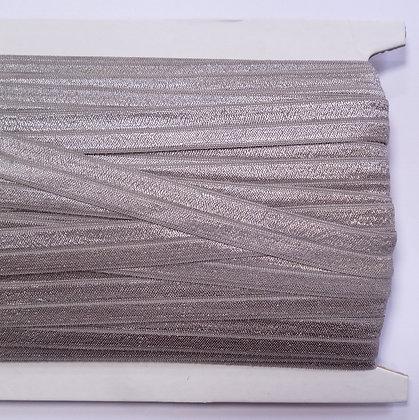 Satin Sheen Fold Over Elastic :: Grey