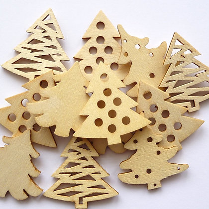 Wooden Christmas Trees Pack